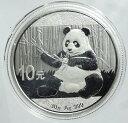 中国 パンダ10元銀貨 1オンス 2017年未使用