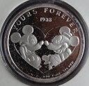 アメリカ ミッキーマウス&ミニーマウス YOURS FOREVER 1オンス純銀メダル 1988年