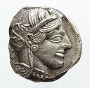 古代ギリシャ アッティカ(アテネ)ふくろう テトラドラクマ銀貨 (440-404 BC)16.84g
