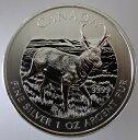 カナダ野生動物シリーズアンテロープ 5ドル銀貨2013年