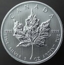 カナダメイプルリーフ5ドル銀貨 1オンス2013年未使用