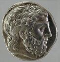 【送料無料】古代ギリシャ マケドニア王国 フィリップ2世 テトラドラクマ銀貨 (359-336 BC)極美品