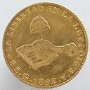 メキシコ 8エスクード金貨 1862年 Go YE 未使用ー