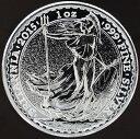 イギリスブリタニアシルバー 2ポンド銀貨 2015年