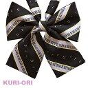 KURI-ORI[クリオリ]オリジナルリボンタイ KRR34鍵盤音符ブラック ONP