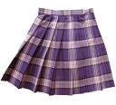 【SALE!】KURI-ORI★クリオリ W60丈42 サマースカートSKR114 パープルタータン制服プリーツスカート【日本製】【セール!】