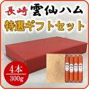 【早割】雲仙ハムギフトセット 300g×4本 詰め合わせ 贈...