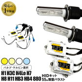 HIDキット HIDフルキット HID hid 超薄型バラスト 55WHIDキット HIDフルキット スリムバラスト HID hid HIDキット HIDフルキット 交流式 【H1 H3 H3C H4Lo H7 H8 H10 H11 HB3 HB4 880】