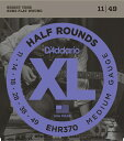 D'Addario EHR370 Half Rounds, Medium, 11-49 《エレキギター弦》 ダダリオ 【ネコポス】