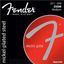 Fender Super 250's Nickel-Plated Steel Strings(11-49)《エレキギター弦》【ネコポス】【ONLINE STORE】