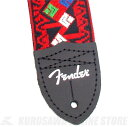 Fender Eric Johnson Signature Straps (Red with Multi-Color Pattern)《ストラップ》【ONLINE STORE】