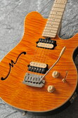 MUSICMAN Axis Super Sport Semi-Hollow Body HH trem Maple Fingerboard,Matching Headstock (Translucent Gold)【送料無料】【受注生産品】