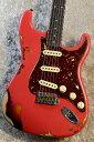 Fender Custom Shop LTD 1961 Stratocaster Heavy Relic Aged Fiesta Red over 3TS CZ551169