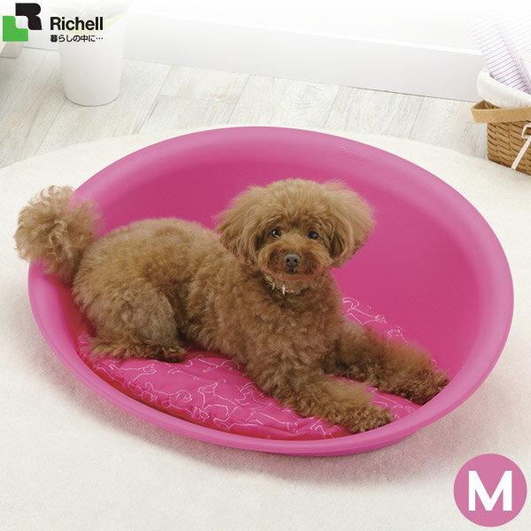 リッチェルペットベッドオーバルMピンクベッド・マット/小型犬用ベッド・カドラー/猫用ベット/ペットベ