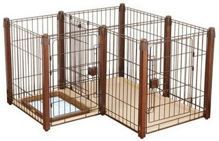 Petio wooden dog room circle 2-Way
