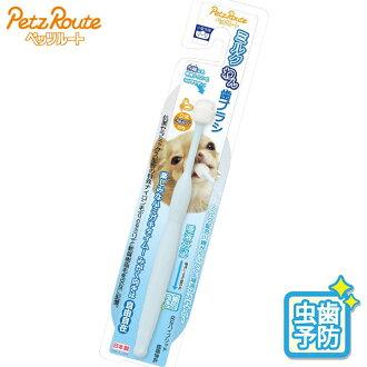 PETZ-ROUTE牛奶碗牙刷[牙膏、刷牙/牙刷、牙齒burashi/口臭預防/牙齒護理用品/保養用品][沒有狗用品/狗(狗)/寵物·寵物商品/寵物用品]