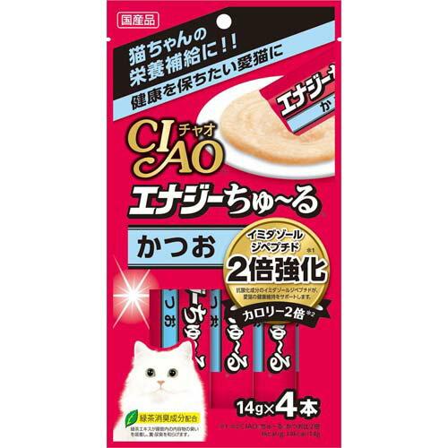 いなばペット エナジーちゅ〜るかつお 14gX4本 【キャットフード/猫用おやつ/猫のおやつ・猫のオヤツ・ねこのおやつ】【いなば チャオ(CIAO)】