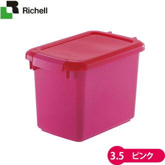 供RICHELL寵物使用的食物守門員3.5粉紅[fudosutokka、容器(狗糧/猫糧)][狗用品、貓用品/寵物用品、寵物商品]