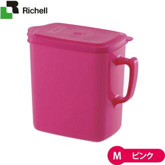 裡歇爾派上用場的寵物食品投手 M 粉紅色 [食物放養和食物保護程式容器 (狗糧和貓糧)] [狗寵物用品貓用品寵物 / 寵物用品]