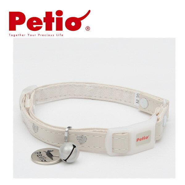ペティオCCハートレザーカラーホワイト猫首輪(くびわ・カラー)猫用首輪・猫の首輪お出かけ・お散歩グッ