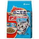 ねこ元気 肥満が気になる猫用 まぐろ・野菜・白身魚・チキン入り 2kg 【ドライフード/成猫・肥満猫