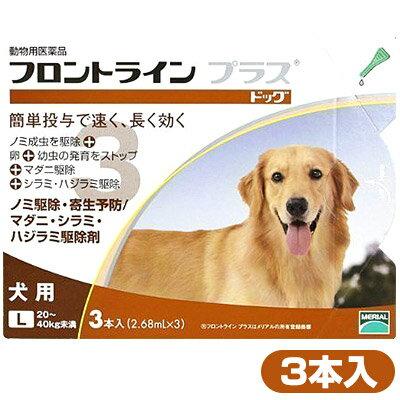 フロントラインプラス 犬用 L 3P 【動物用医薬品】【ノミ・ダニ・シラミ駆除】【送料無料】 同梱不可