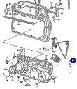 【送料サービス】VW ポロ(9N)03y〜/純正品 ウィンドーレギュレター(右前)新品(6Q4837462K)