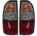 DEPO クリスタル赤白テールランプ コンビテールライト (黒枠) 212-19D5PXA トヨタ ランクル ランドクルーザー プラド 90系 95系