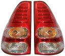 トヨタ ランクル ランドクルーザー 120系 プラド/LEDテールライト左右セット(クリア/レッド)Ver.2新品