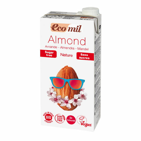 EcoMil (エコミル)アーモンドミルク・ストレート ブリック 1000ml×2個セット(夏季限定品)【プレマ株式会社】【05P03Dec16】