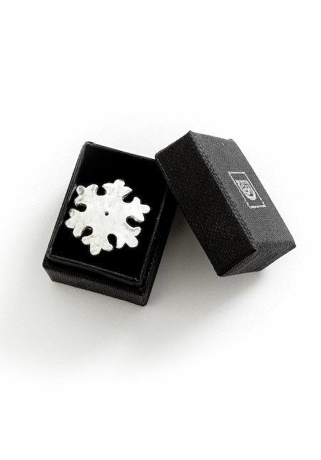 シルバー製☆かわいい雪輪の帯留。