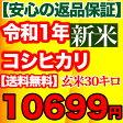 コシヒカリ 玄米 30kg千葉県産 精米(白米)無料【送料無料】