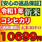 29年産新米入荷 コシヒカリ 玄米 30kg千葉県産 精米(白米)無料【送料無料】