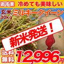 29年産新米入荷 ミルキークイーン 玄米 30kg 【送料無料】【精米無料】 精米(白米)発