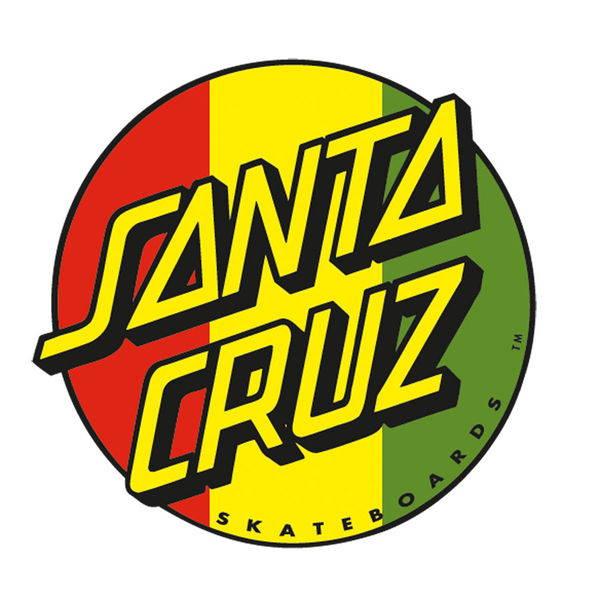 SANTA CRUZ サンタクルーズ RASTA DOT DECAL 直径約7.5CM