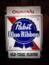 AN211 USED(中古) VINTAGE ANTIQUE PABST BEER BLUE RIBBON BEER LIGHTED SIGN ライトサイン 5...