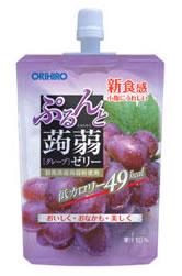 オリヒロ ぷるんと蒟蒻ゼリー 【グレープ】 (130g) くすりの福太郎