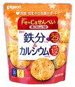 ピジョン Fe+Ca せんべい 黒ごましょうゆ (8枚) 鉄分 カルシウム くすりの福太郎