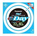 パナソニック パルック e-Day 32+40W 昼光色 FCL3240EXDE2TF (2本入) 32形 40形 丸型蛍光灯 くすりの福太郎