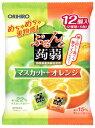 【☆】 オリヒロ ぷるんと蒟蒻ゼリー パウチ マスカット+オレンジ (20g×12個入) くすりの福太郎