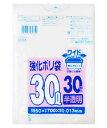 日本サニパック UH34 強化ポリ袋 30L ワイド 半透明 (30枚入) ゴミ袋 くすりの福太郎