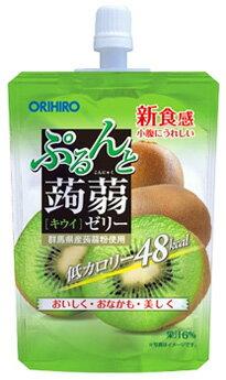 オリヒロ ぷるんと蒟蒻ゼリー スタンディング キウイ (130g) 低カロリー 48kcal