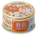 いなばペットフード CIAO チャオ 贅沢 焼かつお まぐろ・とりささみ (80g) キャットフード 缶詰