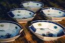 九谷焼・和食器5.3号小鉢揃 色絵山水