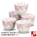 【九谷焼】湯呑み 5客 セット 金箔花の舞