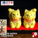 【九谷焼】ペア招き猫 黄盛(右手・左手)【10P03Dec16】