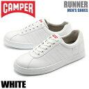 送料無料 カンペール CAMPER メンズ スニーカー ランナー ホワイト 白 靴 シューズ 天然皮革 ローカット スムースレザー CAMPER RUNNER K100227-004