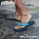 """《アイテム名》 OLUKAI オルカイ サンダル サンダル オハナ 'OHANA 10110A メンズ ビーチサンダル スリッパ ハワイ 《ブランドヒストリー》 OluKai(オルカイ)はハワイ生まれの創立者が2005年にカルフォルニアで立ち上げたフットウエアブランド。ハワイ語のOLU (心地よい)、KAI (海)というブランド名には、あいさつ以外にも「思いやり」「調和」といった意味の """"アロハ"""" スピリットが込められている。またブランドロゴであるMakau(骨の鈎針)は、強さ、幸運、海路の安全を願うポリネシアンの伝統的シンボル。圧縮EVAを、""""フルグレインレザー""""で包み込んだ、生体工学に基づいて開発されたフットベッドは、驚くほどの履き心地を約束。レザーの鼻緒は一足づつ丁寧な手縫いで仕上げられ、足あたりもとても良い。履く人の心身に響く心地よさを追求している。 《アイテム説明》 OLUKAI(オルカイ)より「OHANA」です。毎日履きたくなるようなシンプルなデザインのサンダル。ソフトナイロンの鼻緒が靴擦れを和らげ、足裏にフィットするように設計されたフットベッドが絶妙なバランスの着用感と足へのサポートを実現しています。肌触りもよく、素足で履いても心地良いのが特長です。 《カラー名/カラーコード/管理No.》 ダスク×ダークシャドウ/KC6C/""""13960006"""" 製造・入荷時期により、細かい仕様の変更がある場合がございます。上記を予めご理解の上、お買い求め下さいませ。 関連ワード: ビーチサンダル スリッパ ハワイ カジュアル ブランド つっかけ フットベッド 歩きやすい 履きやすい 海 川 黒 青 date 2020/03/12 店内検索用:US7.0(25cm) US8.0(26cm) US9.0(27cm) US10.0(28cm) US11.0(29cm)Item Spec ブランド OLUKAI オルカイ アイテム サンダル スタイルNo 10110A 商品名 オハナ 性別 メンズ 原産国 China 他 素材 アッパー:合成繊維 アウトソール:ゴム 重量 片足:US14.0(32cm) 約306g 商品特性1 こちらの商品は1cm刻みの展開となります。 着用時のサイズ感 細身、普通の方 1サイズ大きめ 甲高、幅広の方 2サイズ大きめ こちらのアイテムの足入れは小さめです。※上記サイズ感は、スタッフが実際に同一の商品を着用した結果です。スタッフ着用の為、個人差があります。参考としてご確認ください。サイズについて詳しくはこちらをご覧下さい。 当店では、スタジオでストロボを使用して撮影しております。商品はできる限り実物を再現するよう心掛けておりますが、ご利用のモニターや環境等により、実際の色見と異なる場合がございます。ご理解の上、ご購入いただけますようお願いいたします。"""