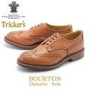 ショッピングBURTON 【スプリングセール開催】 トリッカーズ TRICKER'S バートン メンズ カジュアルシューズ ウイングチップ シューズ メンズ レザー 革靴 ブラウン 茶 BOURTON 5633/69