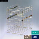 ステンレス製 日本製 シンク下スライドラック 2段 幅25 シンク下 収納 スライド 引き出し 洗面...